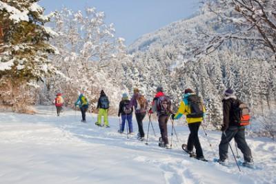 Fasten im Schnee: Fasten und Schneeschuhwandern