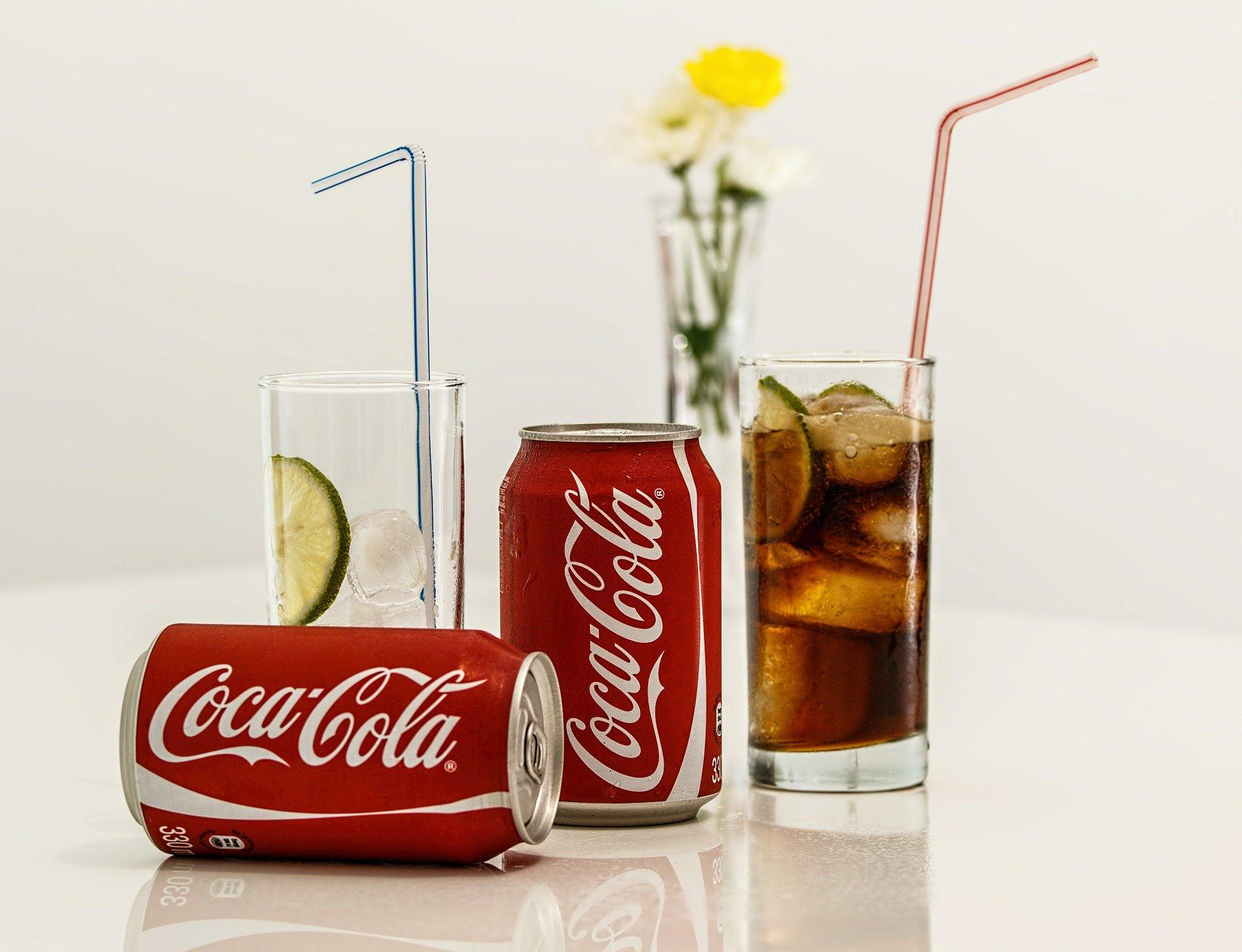 Zucker in Coca Cola